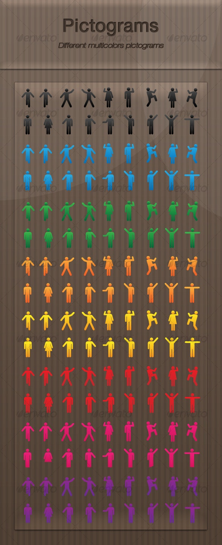 Pictograms - Characters Vectors