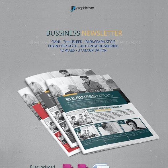 Bussiness Newsletter
