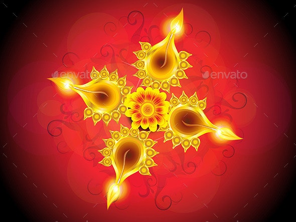 Abstract Artistic Diwali Background - Religion Conceptual