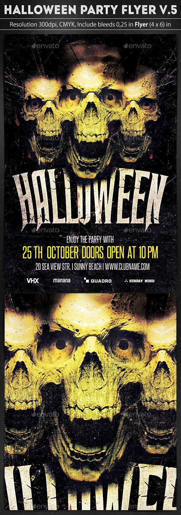 Halloween Party Flyer v.5 - Clubs & Parties Events