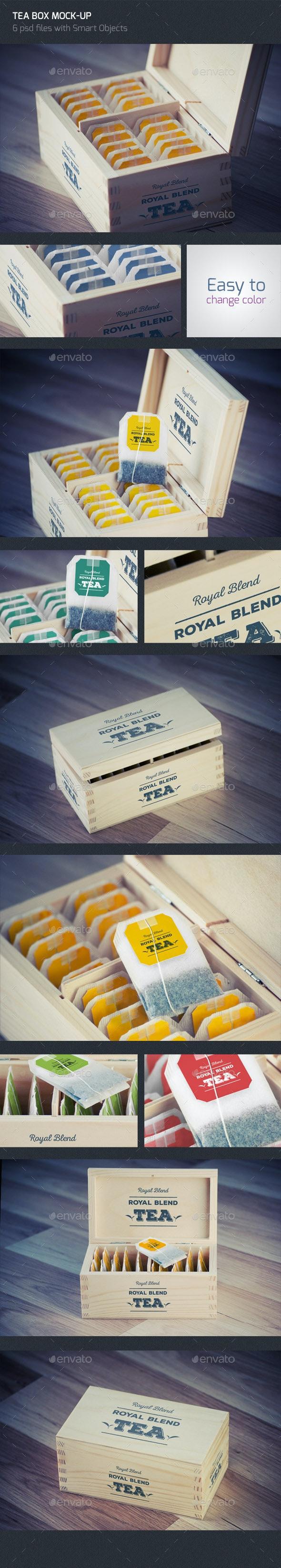 Tea Box Logo Mock UP - Miscellaneous Print