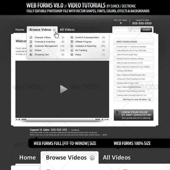 Web Forms and Windows 8 - Video Tutorials layout