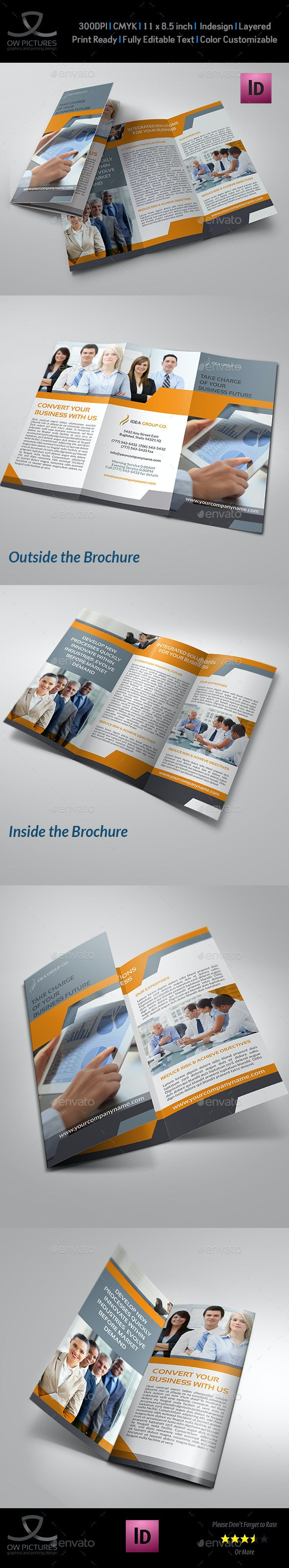 Company Brochure Tri-Fold Template Vol.16 - Corporate Brochures