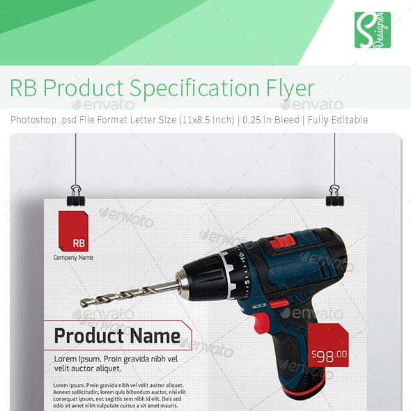 RB Product Specification Flyer