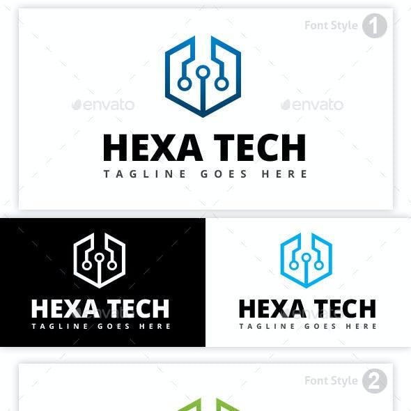 Tech & Hexagon Logo
