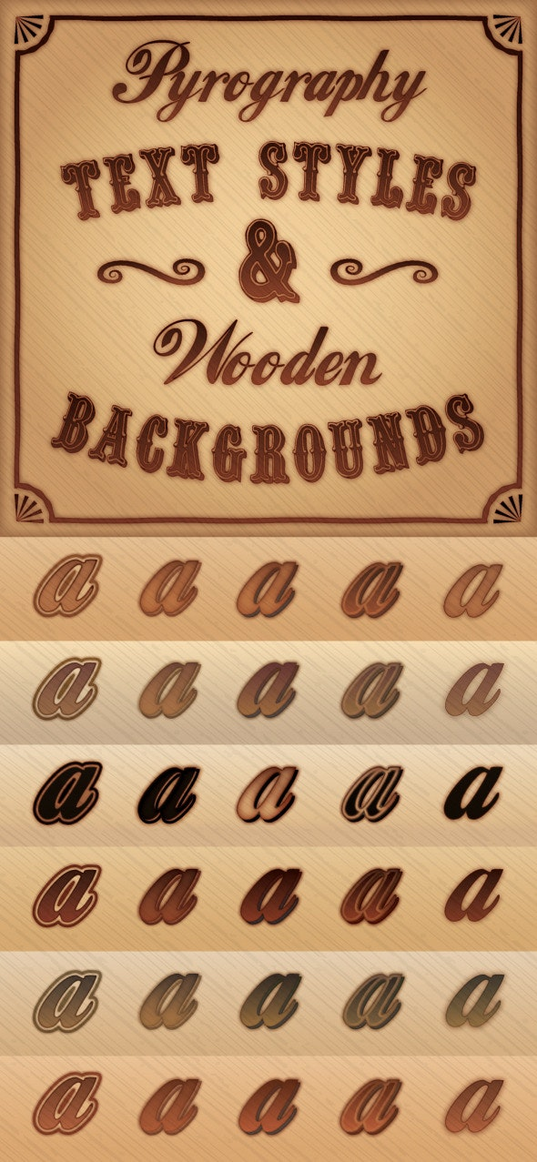 Pyrography (Burnt Wood) Styles & Background Pack