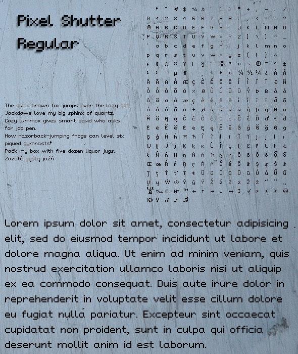 Pixel Shutter Regular