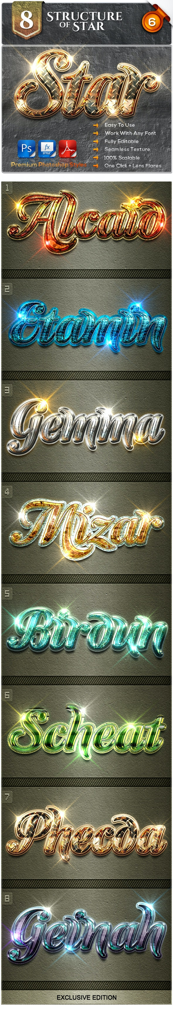 8 Structure of Stars #6 - Text Effects Styles