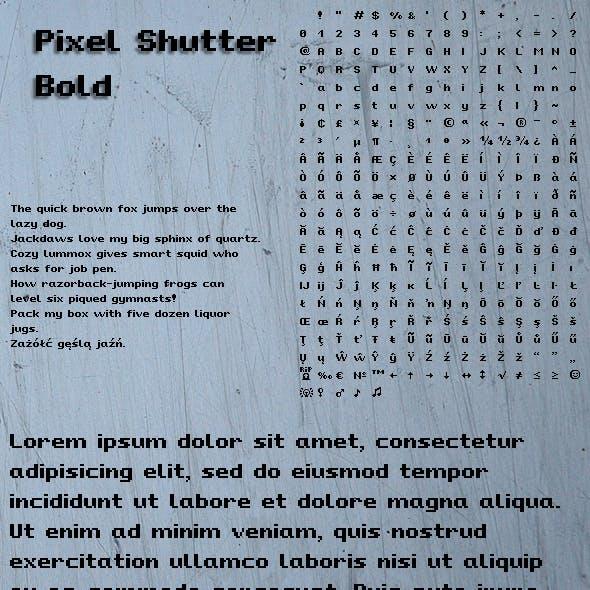 Pixel Shutter Bold