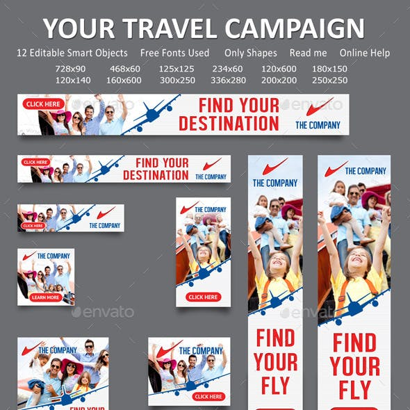Travel and Fly Banner Template 04