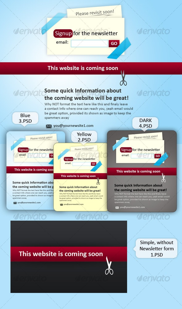 Website coming soon place holder - Miscellaneous Web Elements