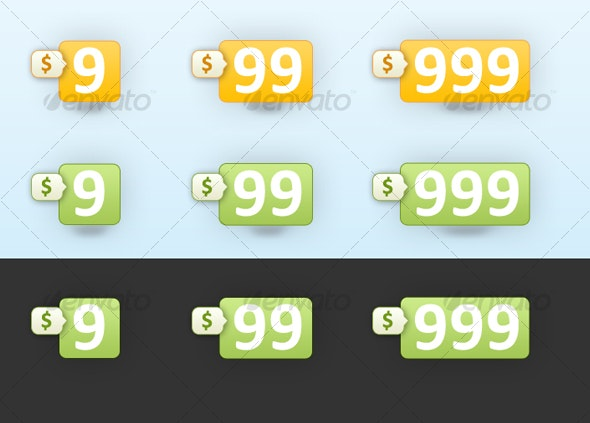 Cool Price Tags - Web Icons