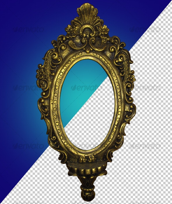 Antique Gold Frame 01 - Home & Office Isolated Objects