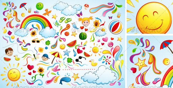 Colorful Summer - Seasons/Holidays Conceptual