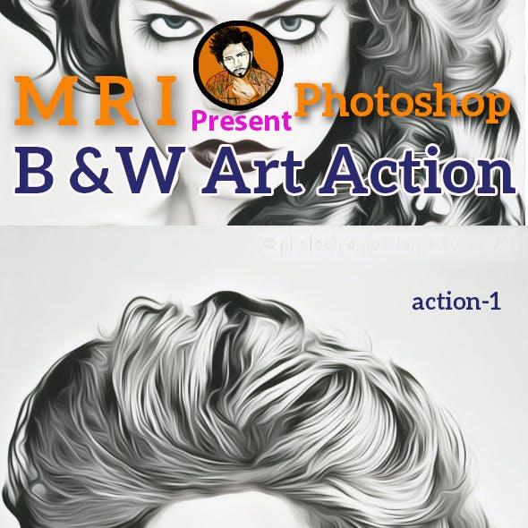 B&W Art Action
