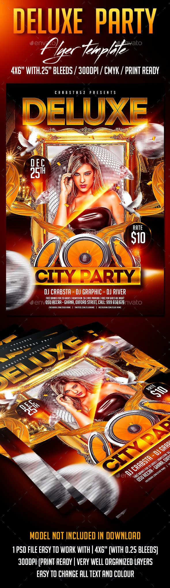 Deluxe Party Flyer Template - Clubs & Parties Events