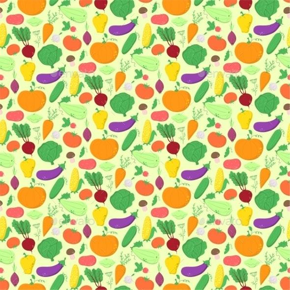 Vegetables Pattern - Backgrounds Decorative