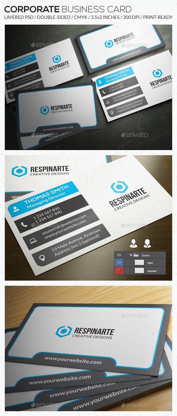 Corporate Business Card - RA60 - Corporate Business Cards