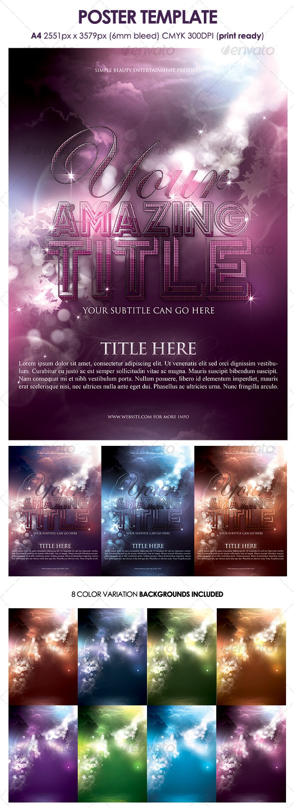 Poster Template - Clubs & Parties Events