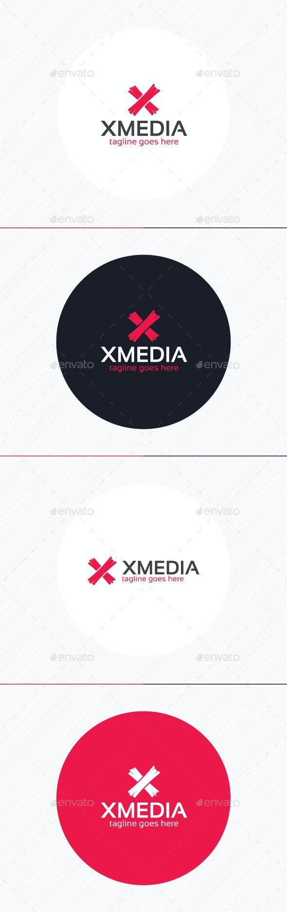 X Media Logo — Letter X - Letters Logo Templates
