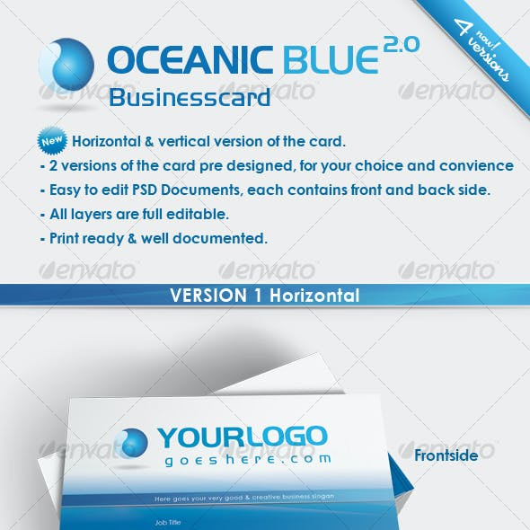 Oceanic Blue Business Card