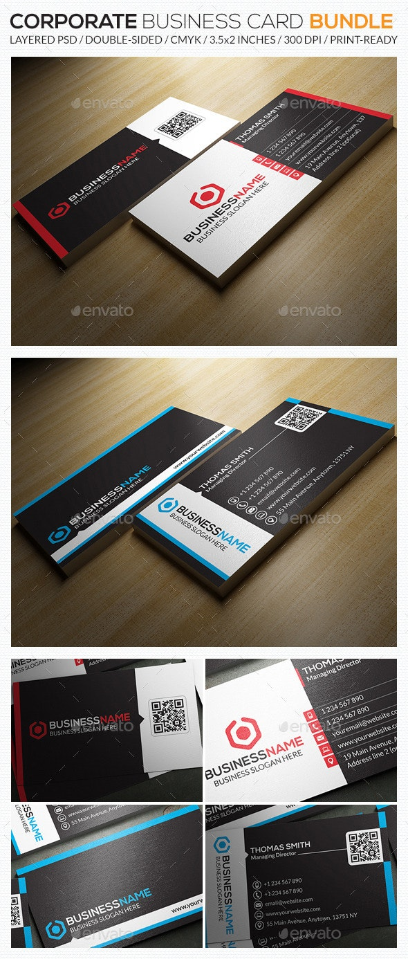 Corporate Business Card Bundle 05 - Corporate Business Cards