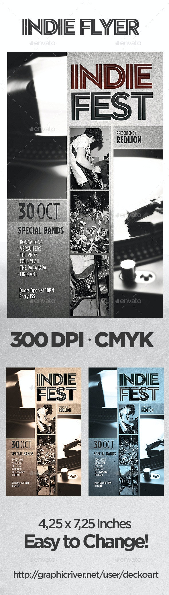 Indie Fest Flyer - Events Flyers