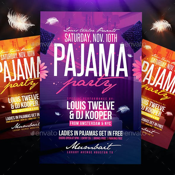Pajama Party Flyer + Instagram Promo
