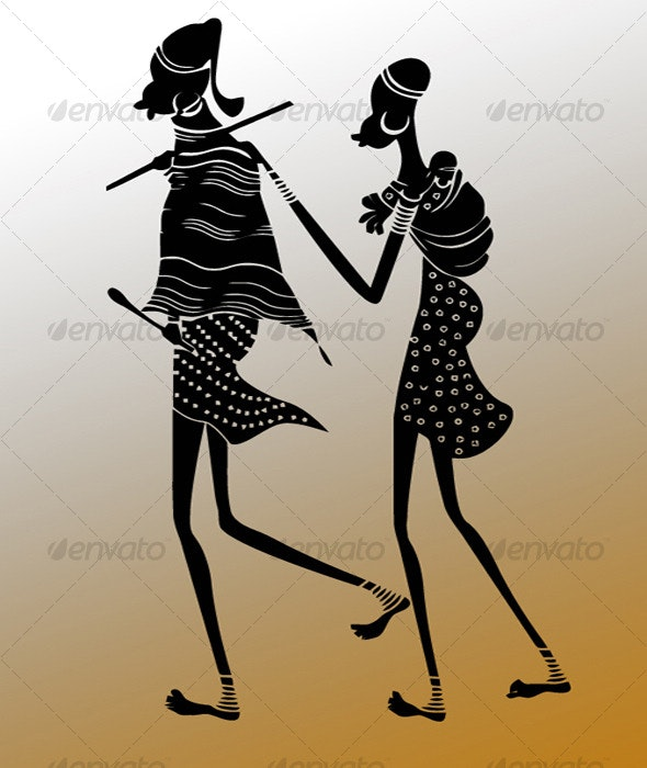 Ethnic Silhouette - People Characters