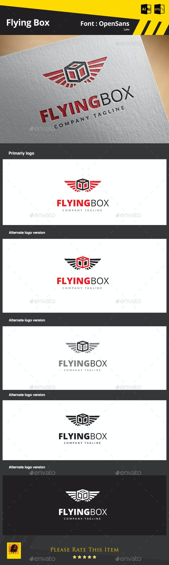 Flying Box - Objects Logo Templates