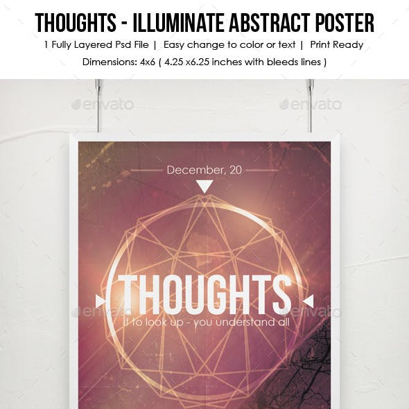 Thoughts - Illuminate Abstract Poster