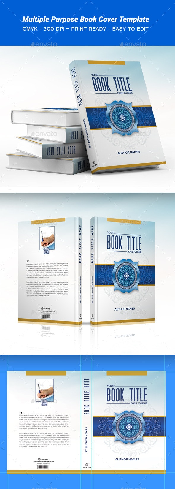Book Cover Template - Print Templates