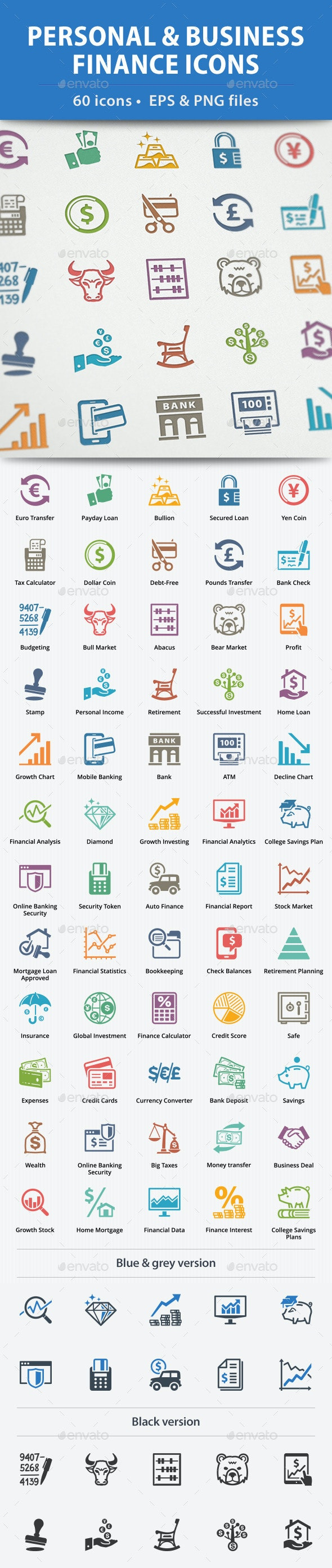 Personal & Business Finance Icons - Business Icons