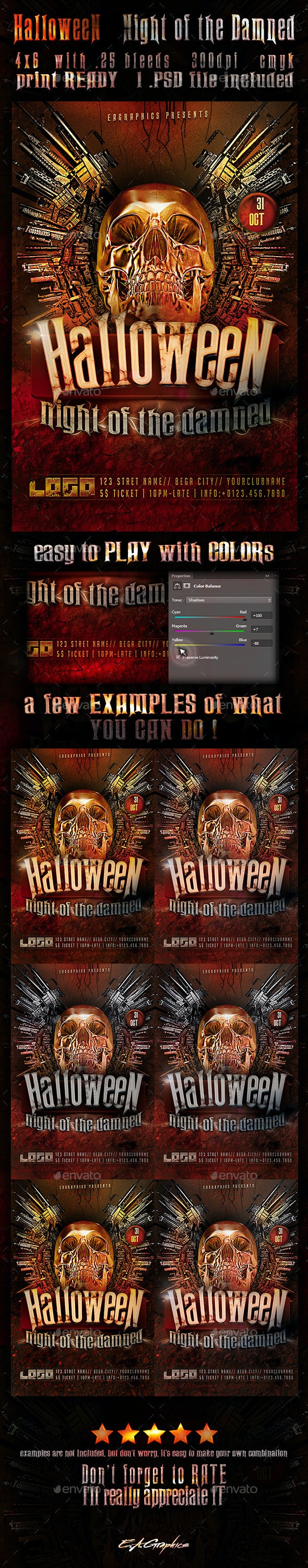 HalloweeN - Night Of The Damned - Holidays Events