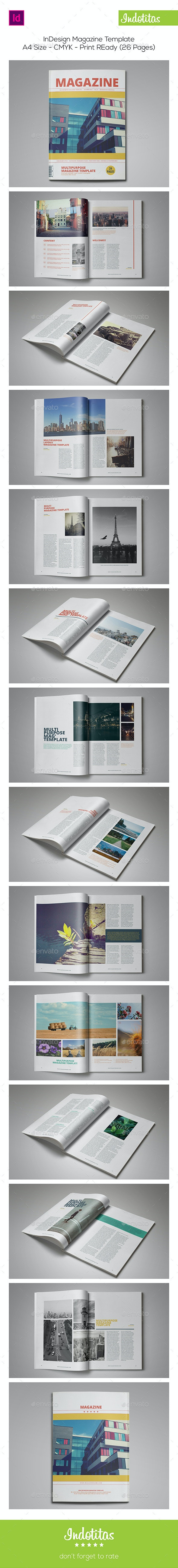 26 Pages InDesign Magazine Template - Magazines Print Templates