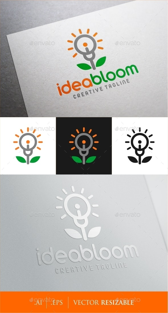 Idea Bloom Logo - Objects Logo Templates