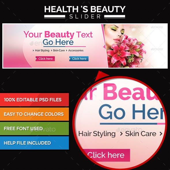 Health & Beauty Slider