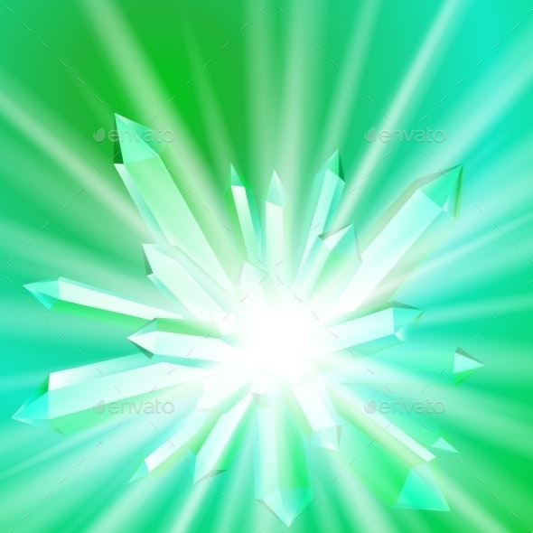 Crystal with Rays - Backgrounds Decorative