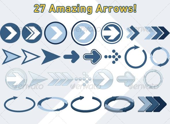 27 Useful Arrows - Decorative Symbols Decorative