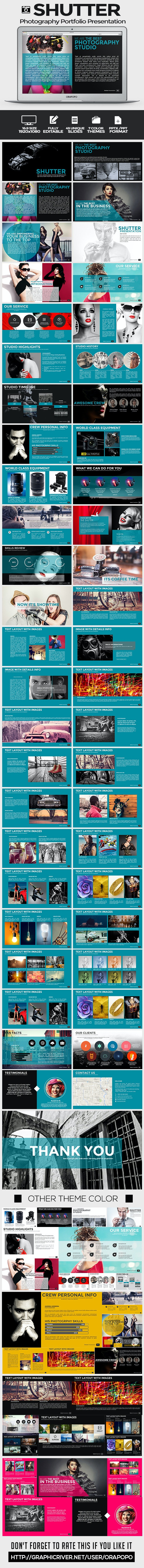 Shutter Photography Portfolio Presentation - Creative PowerPoint Templates