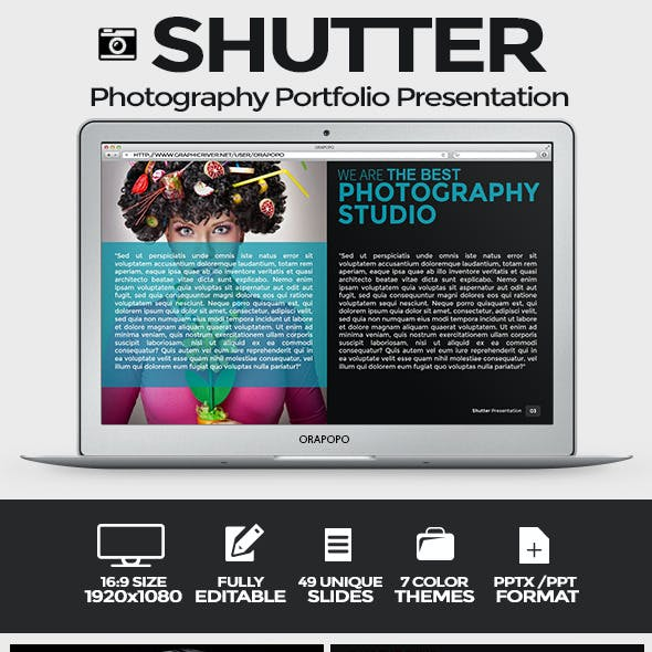 Shutter Photography Portfolio Presentation