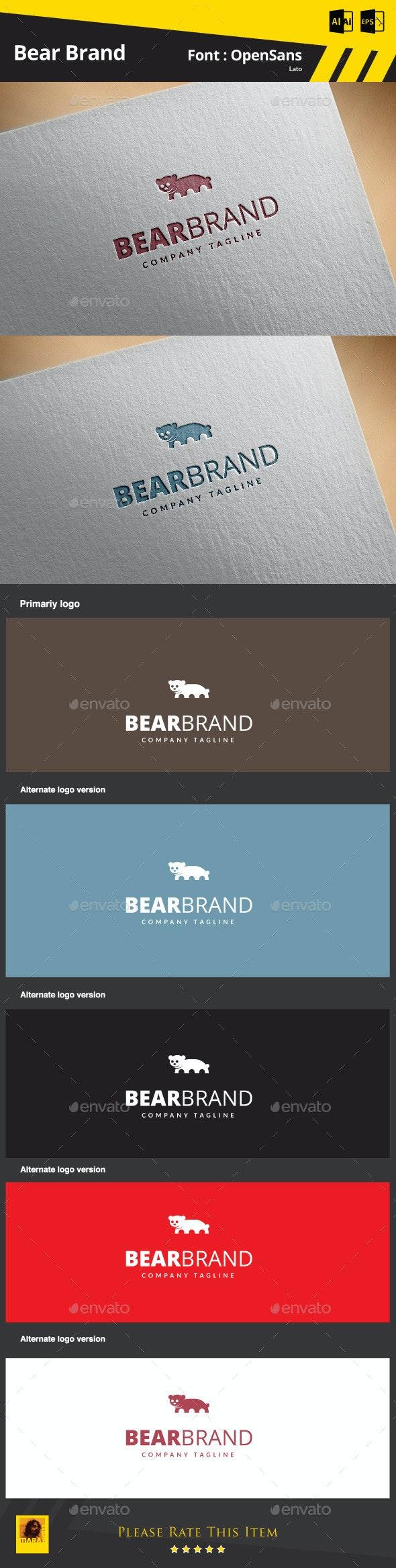 Bear Brand - Animals Logo Templates