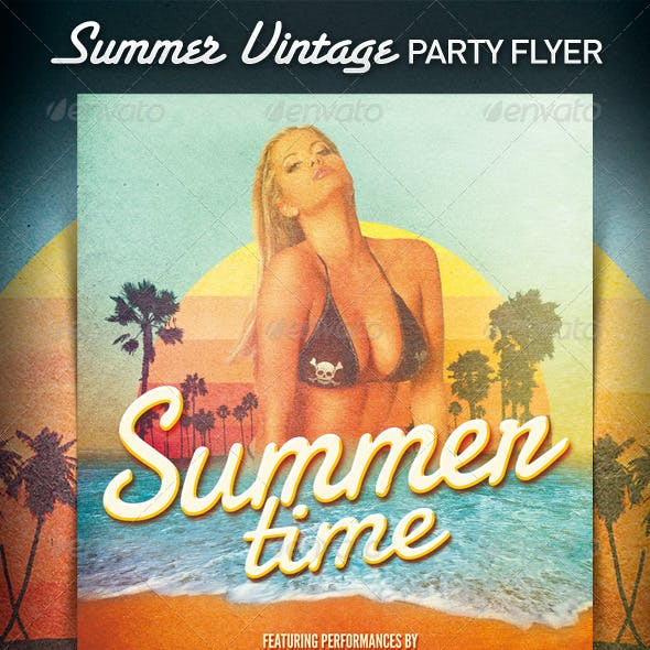 Summer Vintage House / Flyer