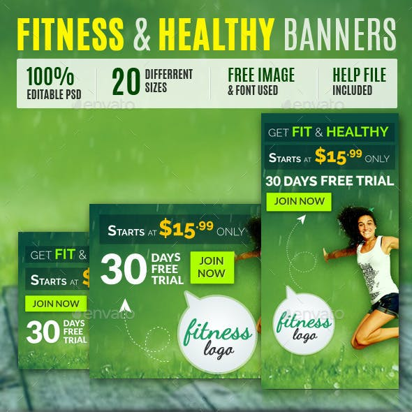 Fitness & Health Banners