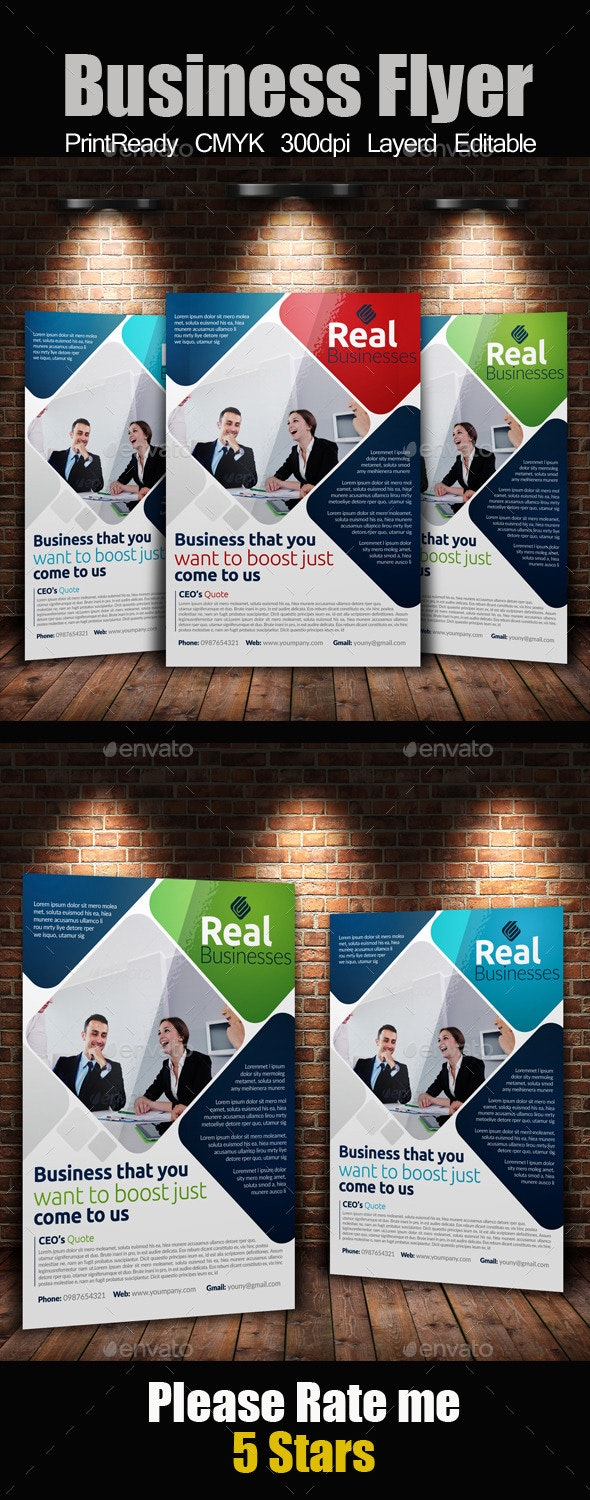 Business A4 Flyer Template - Corporate Flyers