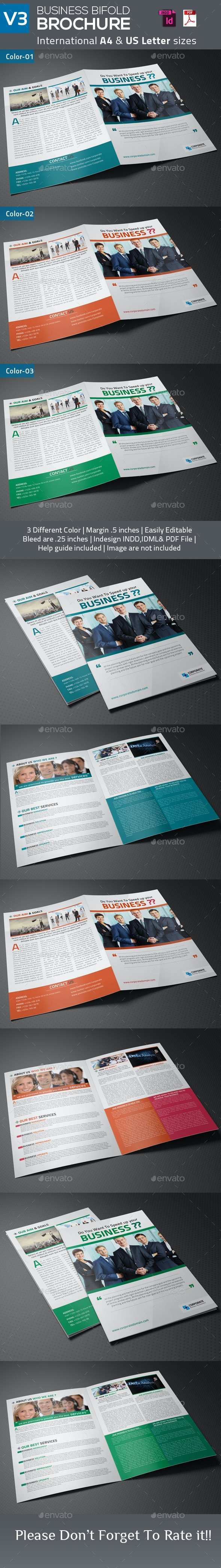 Business Bifold Brochure V3 - Corporate Brochures