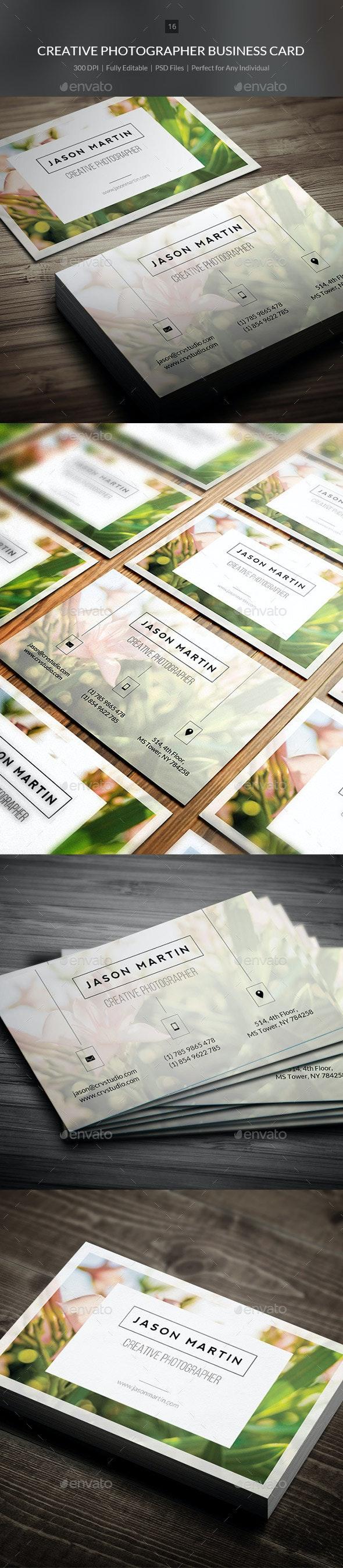 Creative Photographer Business Card - 14 - Creative Business Cards