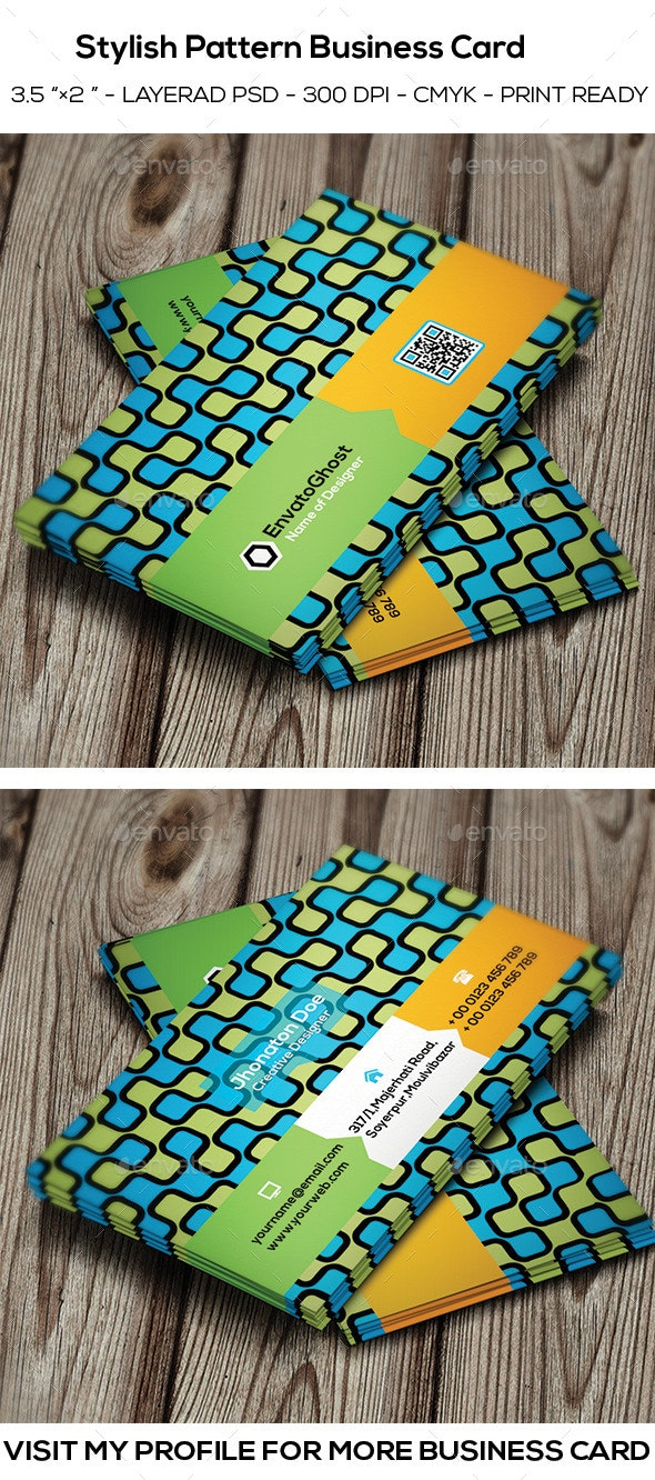 Stylish Pattern Business Card - Corporate Business Cards
