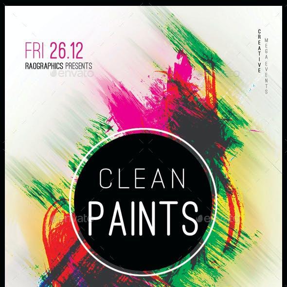 Clean Paints Party Flyer Template