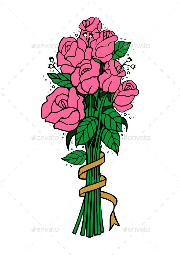 Bouquet of Pink Roses - Flowers & Plants Nature
